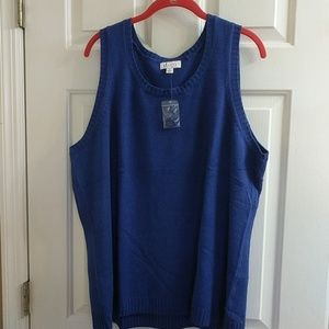NWT 2x sleeveless sweater
